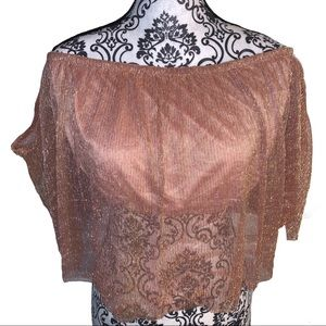 Forever 21 NWT Plus-size Rose Gold Crop Top 3X